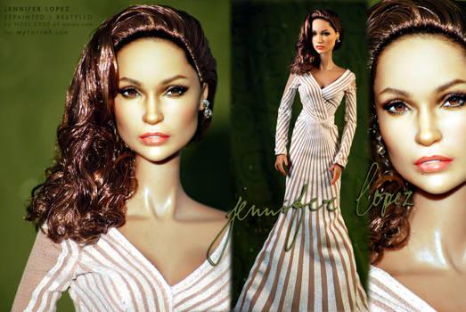 Jennifer Lopez as repainted by artist Noel Cruz