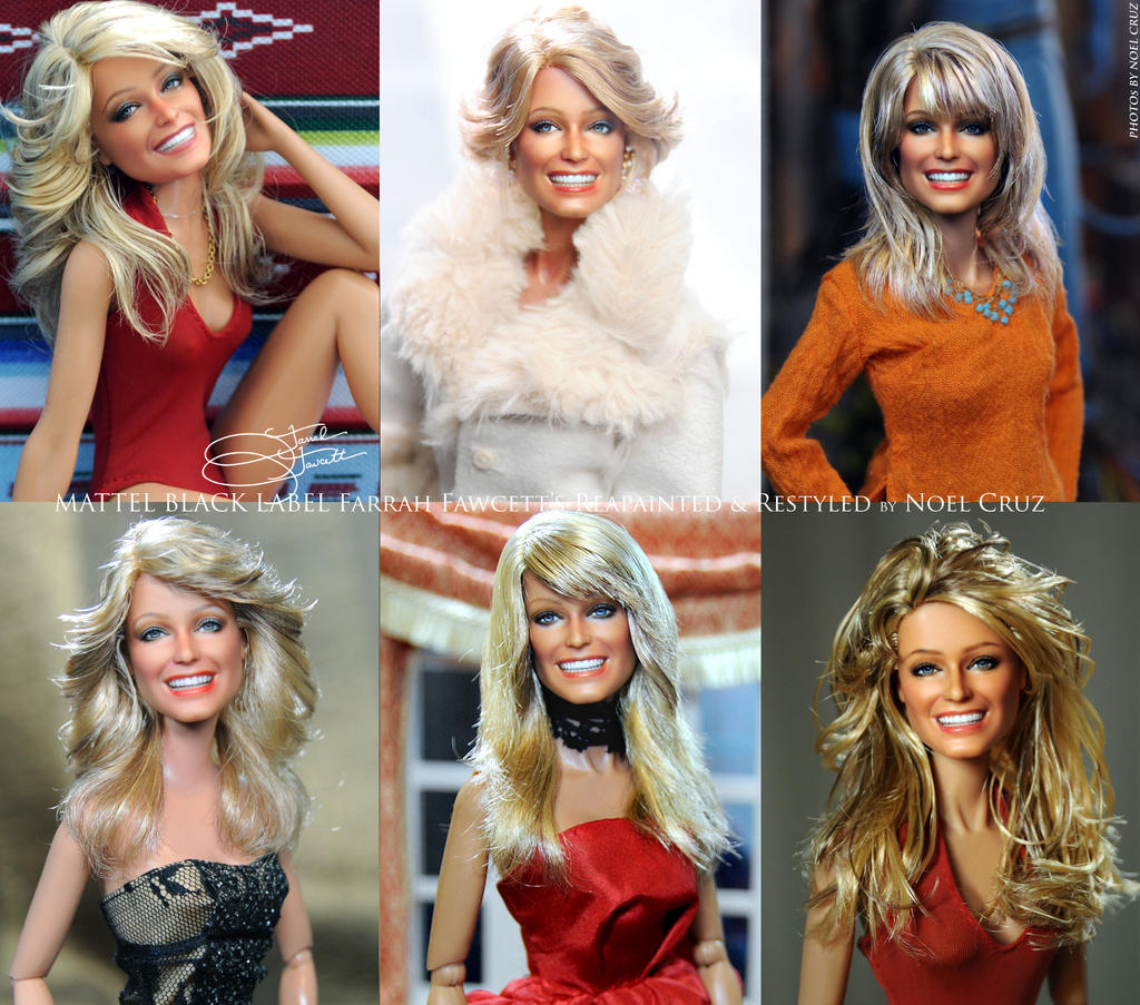 All 6 Black Label Mattel Farrah Fawcett's by Cruz by farrahlfawcett