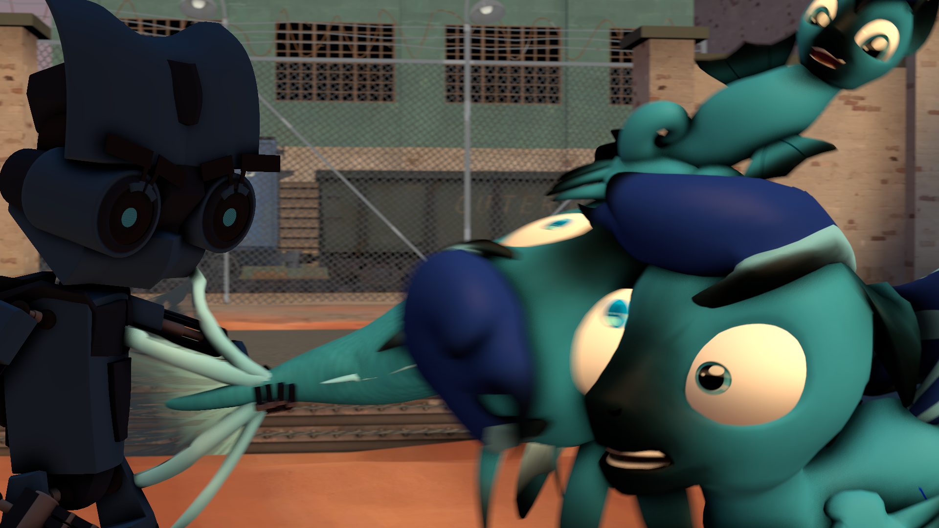 Sfm slap with a rick fish by moonight118 on deviantart for Rick s fish and pet