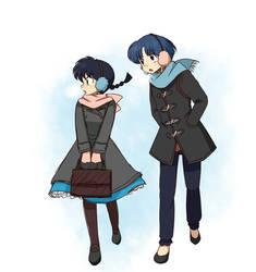 Ranma and Akane Headswap