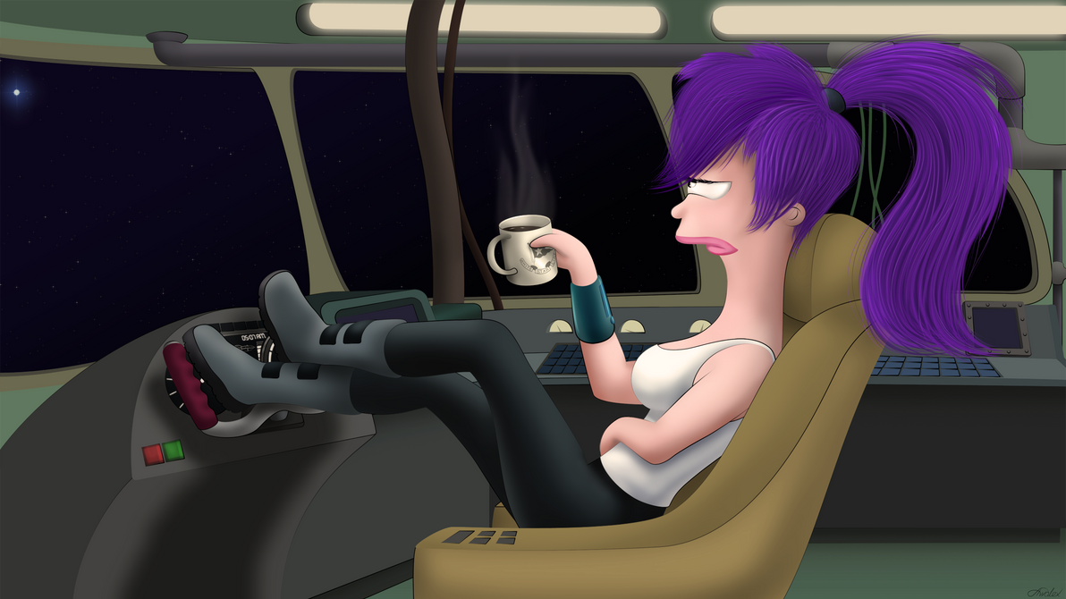 Space Captain's morning by Awalex