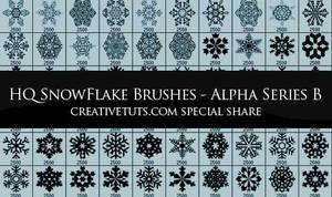 Snowflakes Photoshop Brushes-B