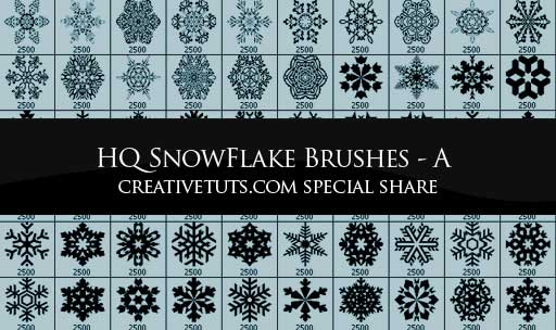 Snowflakes PS Brushes - A by Grasycho