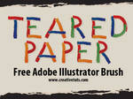 Teared Paper Brush for AI