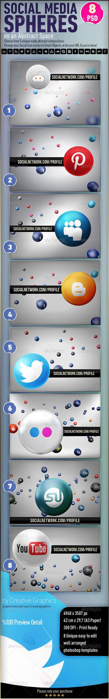 Social Media Spheres by Grasycho