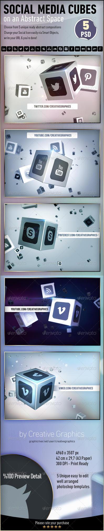 Social Media Cube by Grasycho