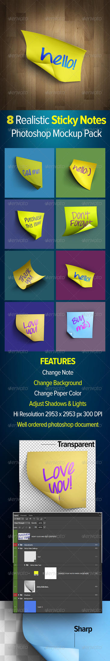 Sticky Notes Preview Main by Grasycho