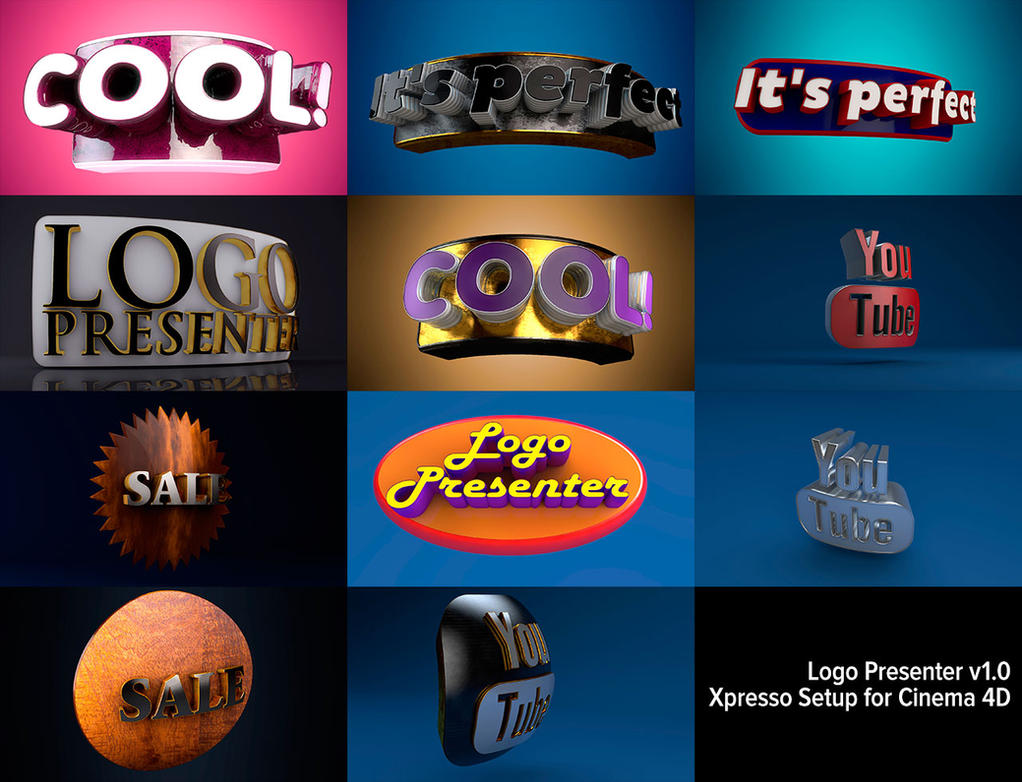 Logo Presenter - Advanced Xpresso Setup for C4D by Grasycho