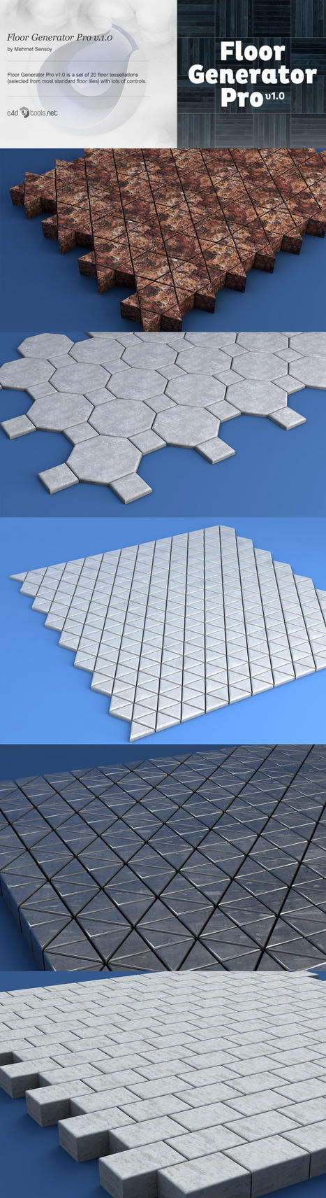 Floor Generator Pro for Cinema 4D by Grasycho