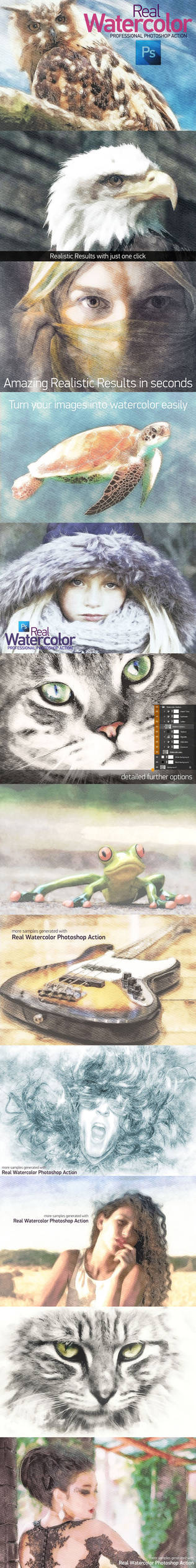 Real Watercolor Actions Preview