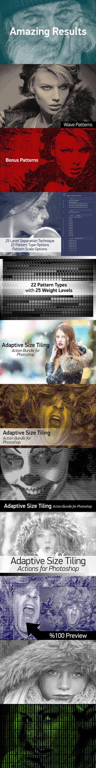 Adaptive Size Tiling - Photoshop Action Bundle