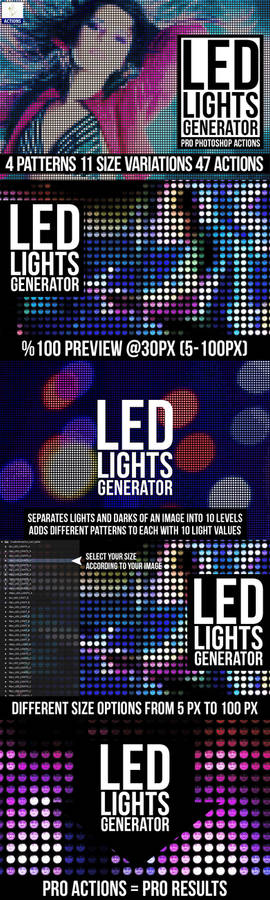 Led Lights Generator PS Actions Preview