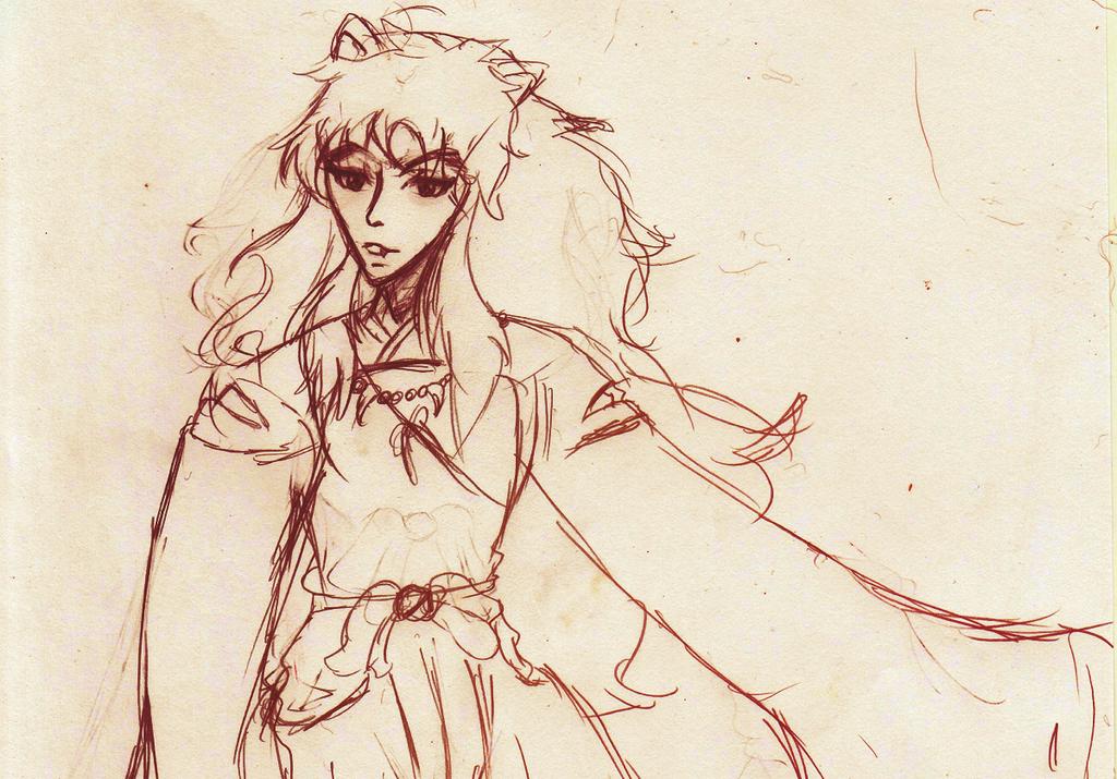 Inuyasha - Sketch by atpinball