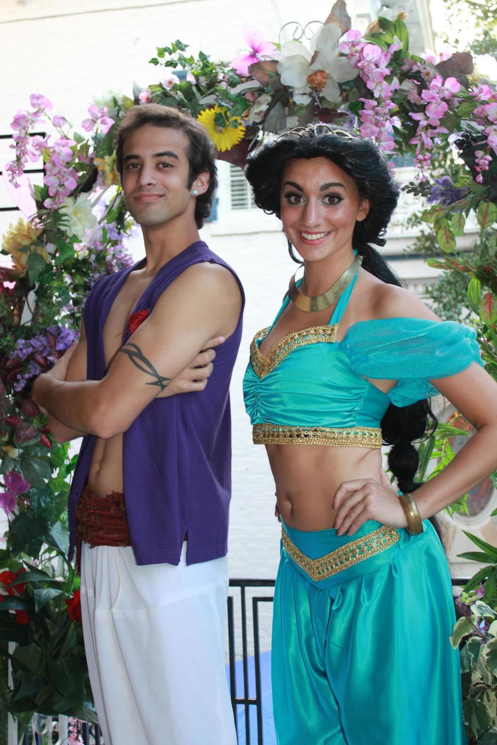 Aladdin and Jasmine by Darkmoonwanted