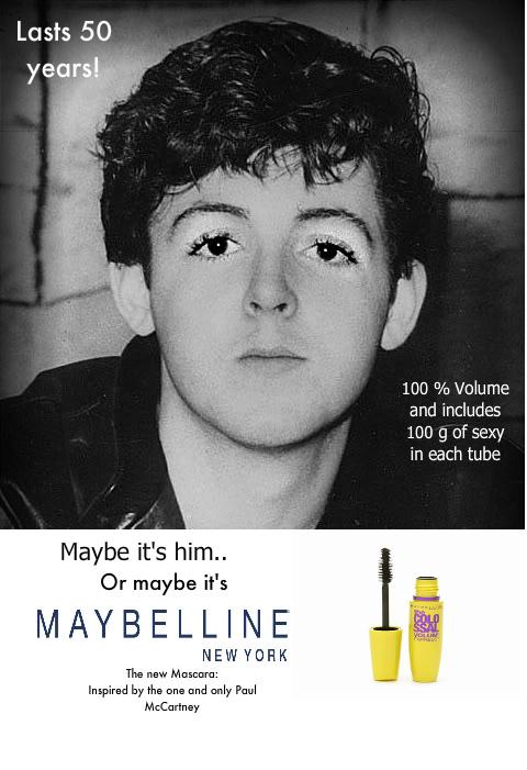 Paul McCartney Mascara Ad By AstrociousArtist