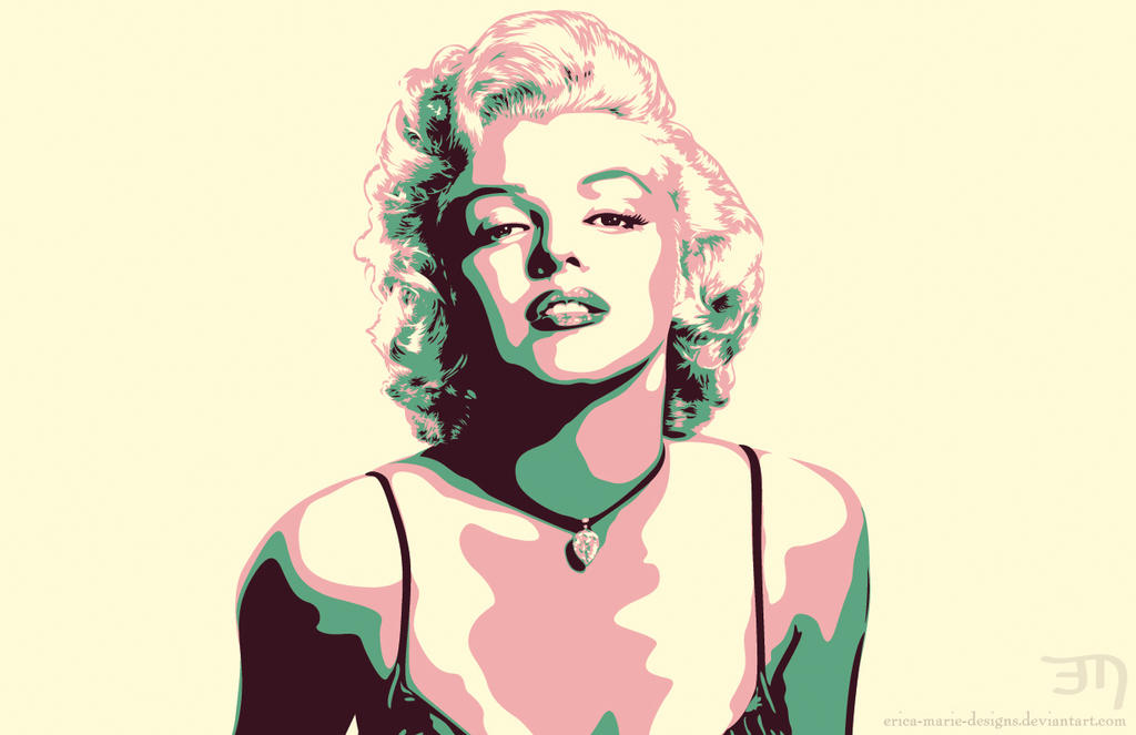 Marilyn Monroe Vector by erica-marie-designs