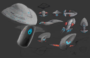 Trident class starship by Merlins-Wand