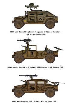 Fallout Humvees - NCR Mojave Expeditionary Force
