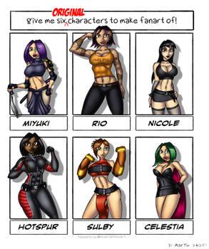 Six Original Characters
