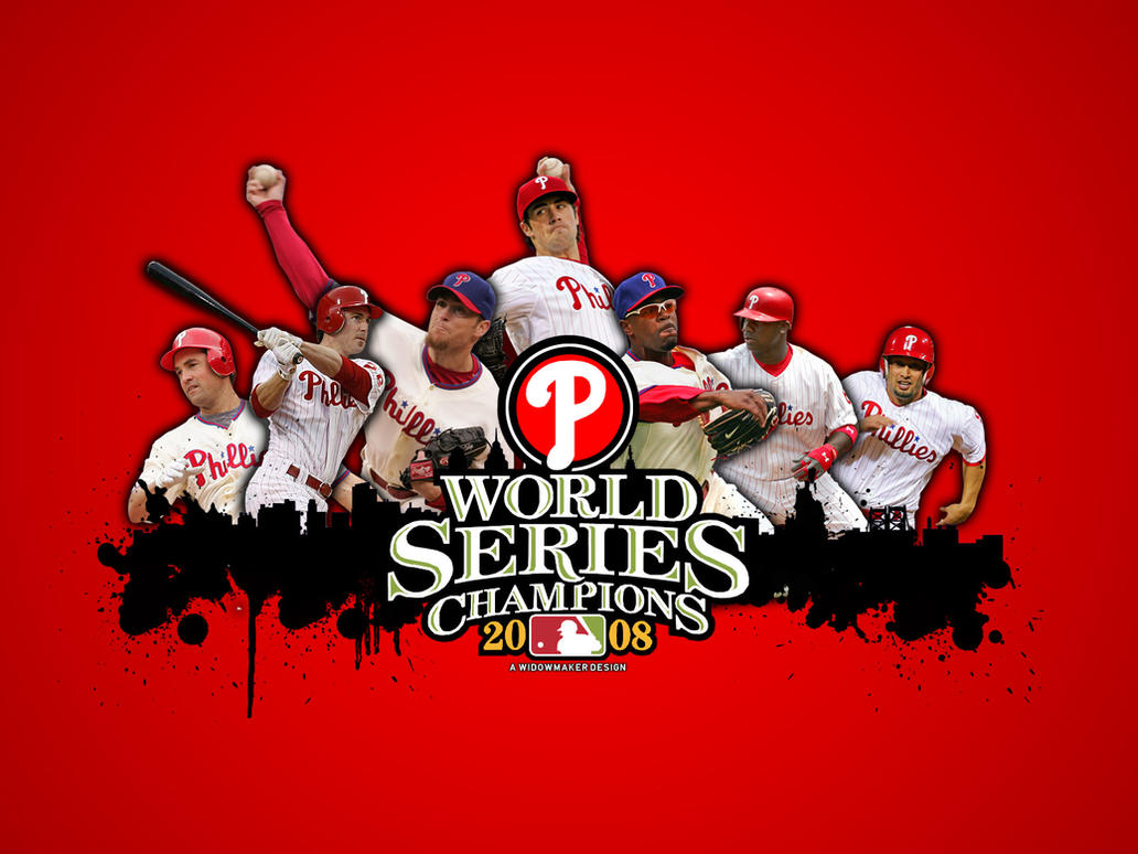 Phillies 08WS Wallpaper Red By WidowmakerXLS