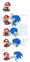 Mario vs Sonic by Grimor-san