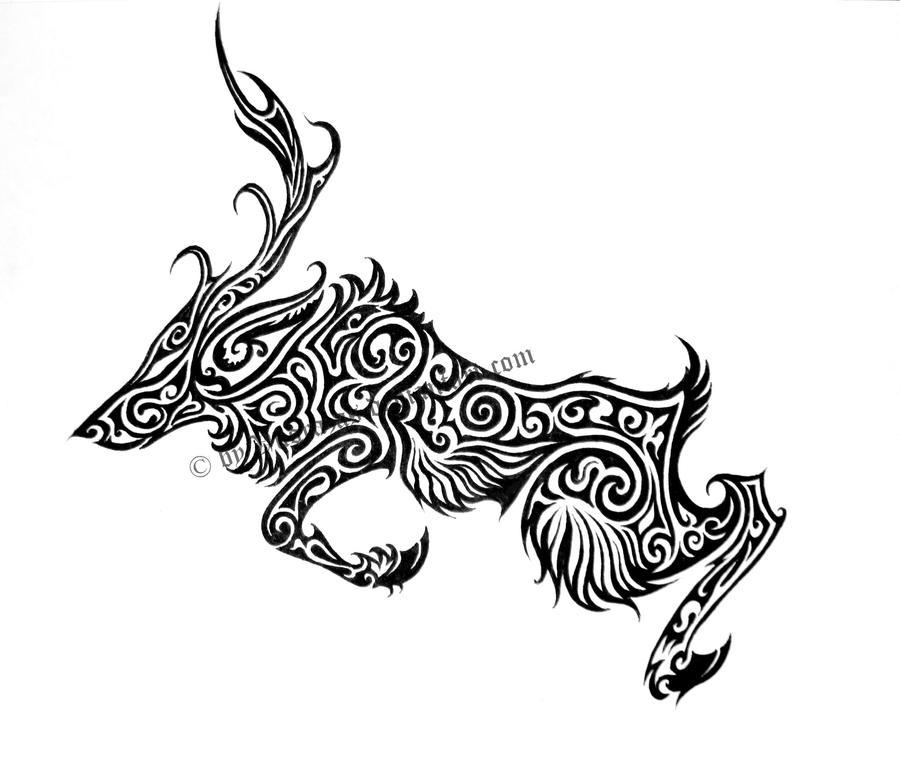 Deer Tribal by Vuorazas on DeviantArt