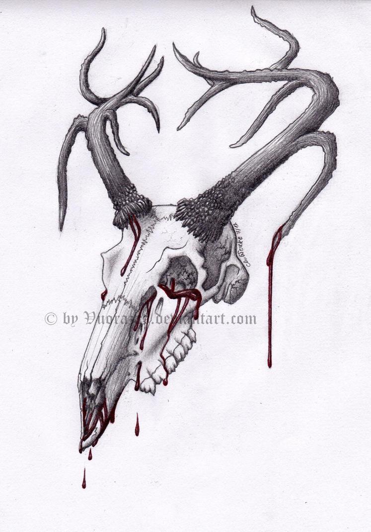 Deer Skull Side View Tattoo 83320 Loadtve