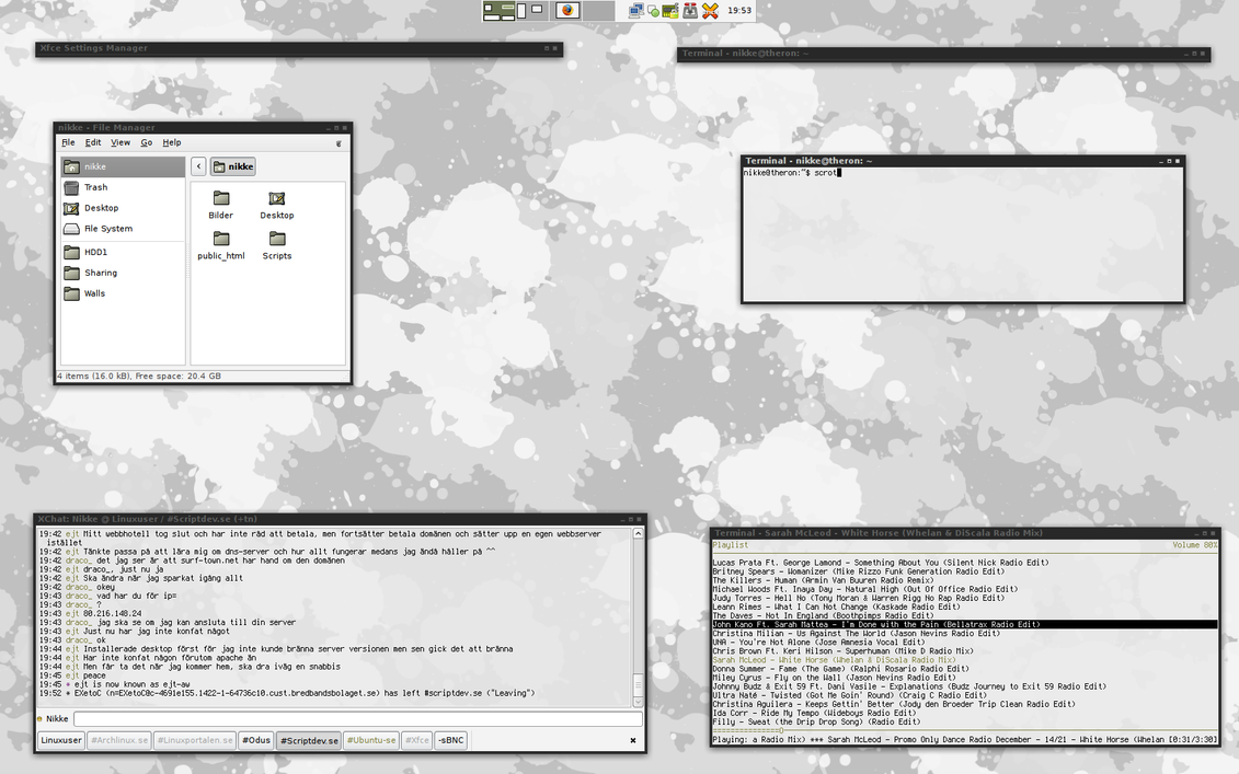 XFCE November, 30th by Nikkee