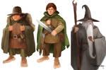 Frodo, Sam, and Gandalf