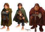 Merry, Pippin, and Gimli