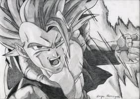 super saiyen punch by Q-SWAG