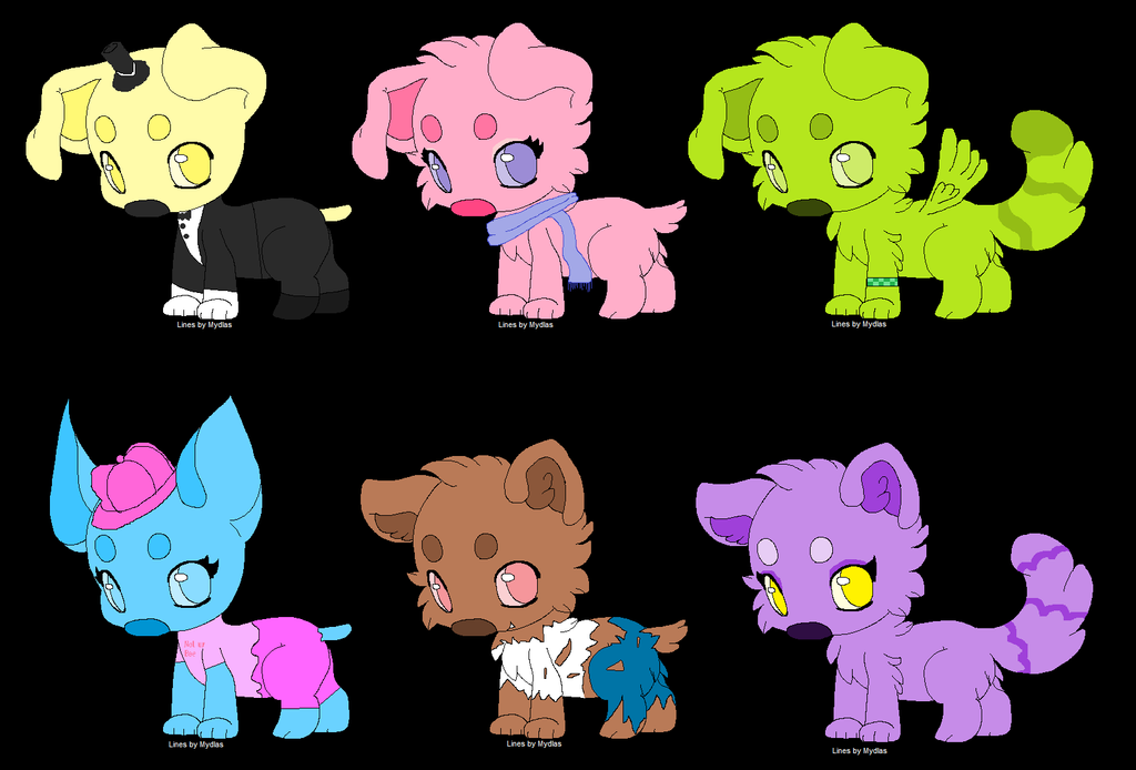 6 Dog Adoptables (description) ::CLOSED:: by IToastedAToaster