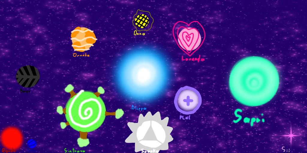 my human OC's solar system by IToastedAToaster