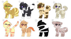 Feline + Canine Adopts! :: OPEN :: - DISCOUNT by IToastedAToaster