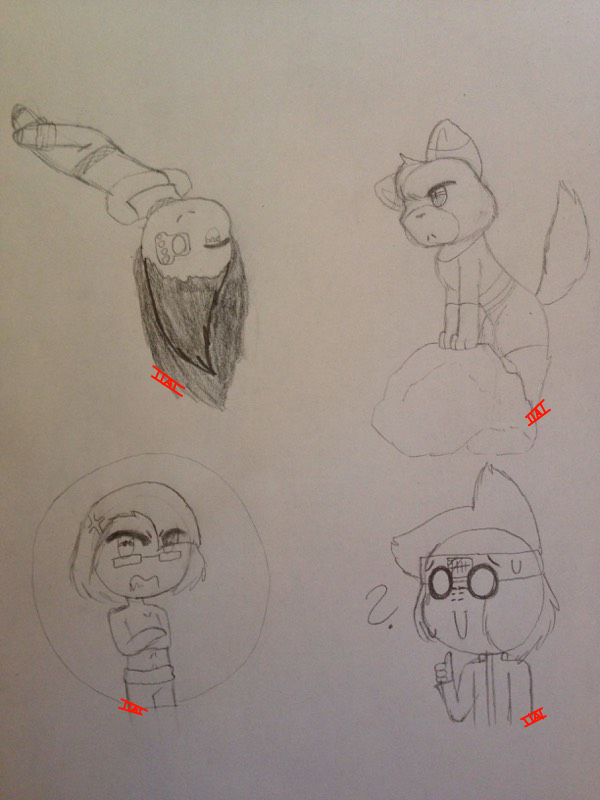 Traditional Doodles #1 by IToastedAToaster