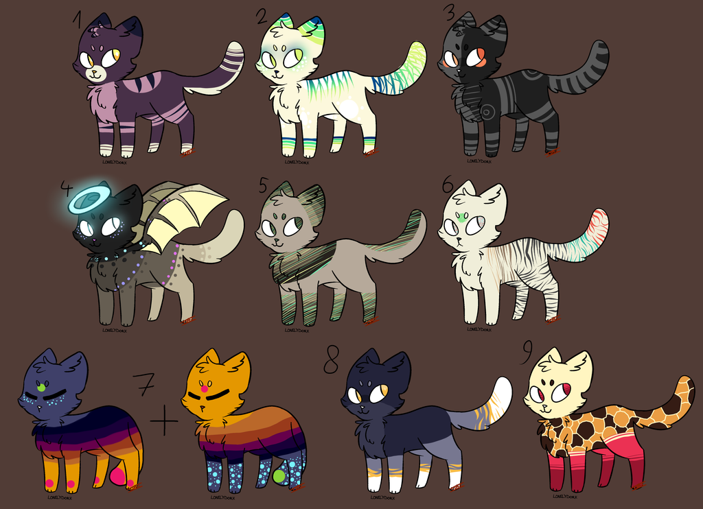 Feline Adopts (POINT DISCOUNT!!!) ::CLOSED:: by IToastedAToaster