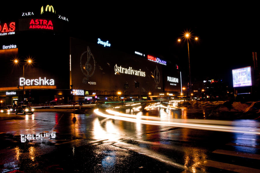 Bucharest at night by Unique-stupidness on DeviantArt