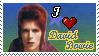 I Heart David Bowie Stamp by oashisu