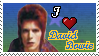 I Heart David Bowie Stamp