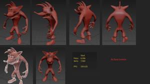 Classic Crash Bandicoot HD remake 3D model by LavelleBears
