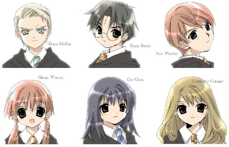 Harry Potter Cast by xxAluraxx Harry Potter Draco And Hermione Anime