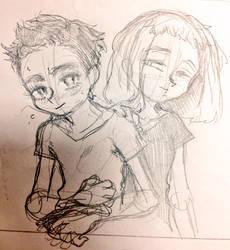 Hikaru and Yuuna by mametake