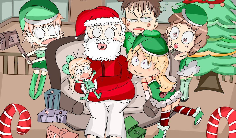 Mall Santa and stupid elfs by Adventureorrage