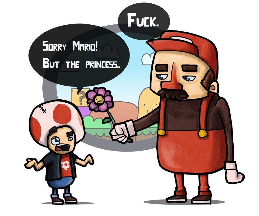 Super Mario and Toad by IndianaJonas on DeviantArt