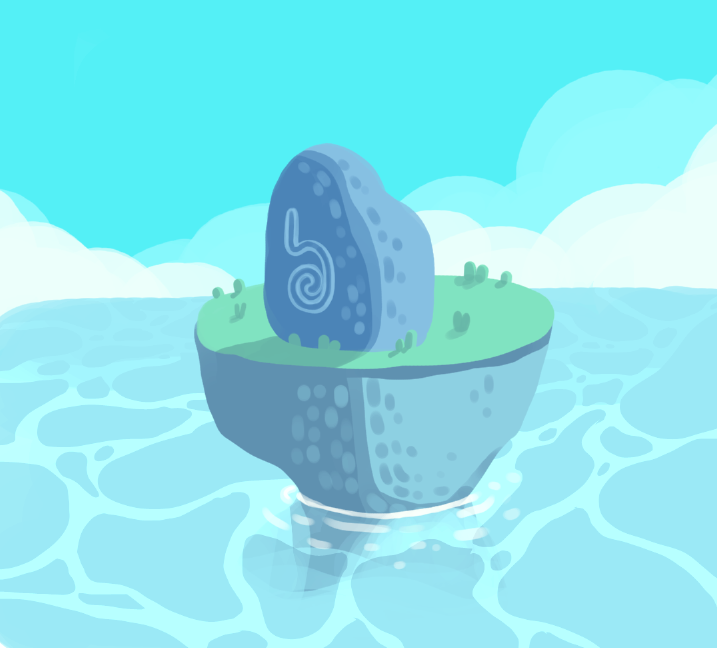 Island with a rock on it by IndianaJonas