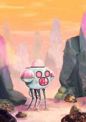 metallic space pup by IndianaJonas