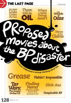 Proposed Movies abt BP disaste