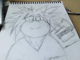 Sora koopafied from KH sketch by BrandyKoopa92