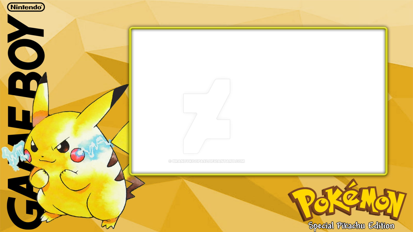 Pkmn Yellow Layout by BrandyKoopa92