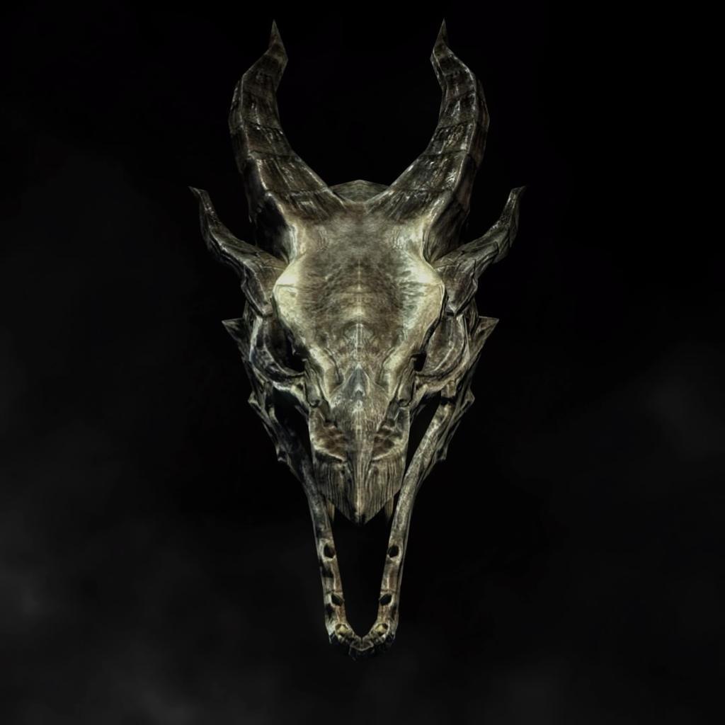 skyrim dragon skull wallpaper by jcrprints on deviantart